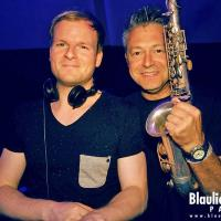 Eike Sax & DJ Andy M @ Blaulicht Union Party / photo: Robin Tasi