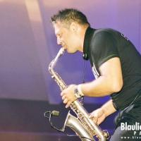 Eike Sax @ Blaulicht Union Party / photo: Robin Tasi